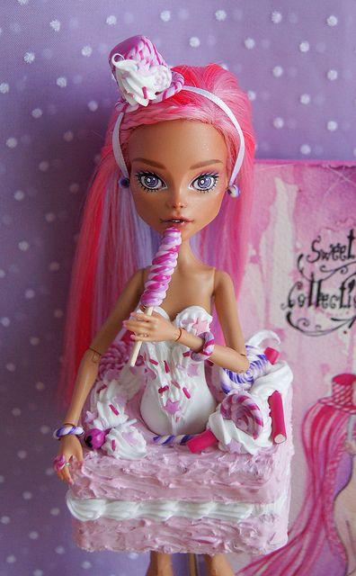 "OOAK Monster High doll Cleo de Nile Mattel repaint custom. Sweet Collection, ""Violetta""., via Flickr."