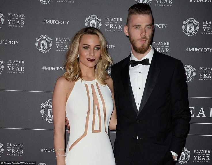 Manchester United goalkeeper De Gea, three time winner of the award, poses with long-term ...
