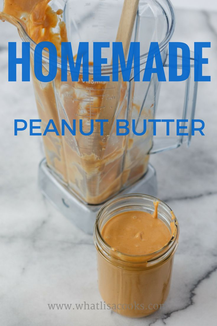 It's so easy to make all natural peanut butter at home!