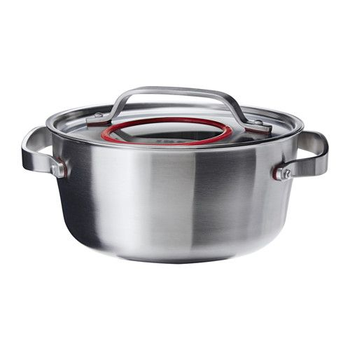 SENSUELL Pot with lid, stainless steel