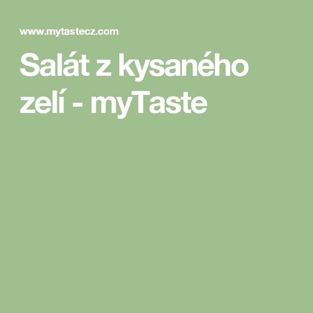 Salát z kysaného zelí - myTaste
