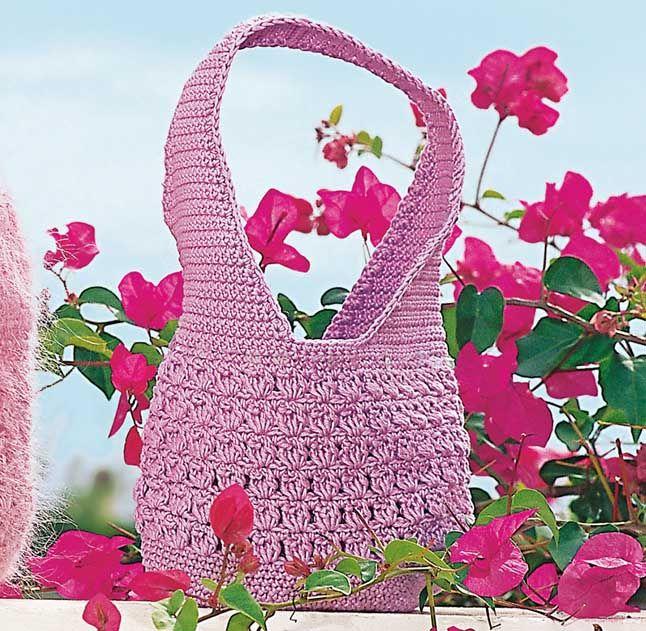 Сиреневая сумка - схема вязания крючком. Вяжем Сумки на Verena.ru