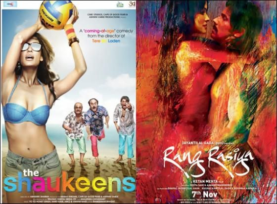 The Shaukeens, Rang Rasiya first weekend box office collections http://www.morningcable.com/entertainment/movie-news/38362-the-shaukeens-rang-rasiya-first-weekend-box-office-collections.html  Bollywood movies The Shaukeens and Rang Rasiya have hit the box office on last Friday on November 7 and they are doing a decent business with box of collections.