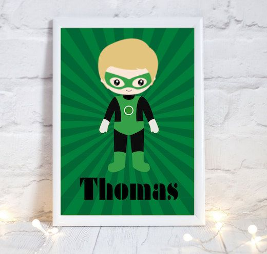 Superhero Print Superhero Poster Boys by PerfectParcelsDesign