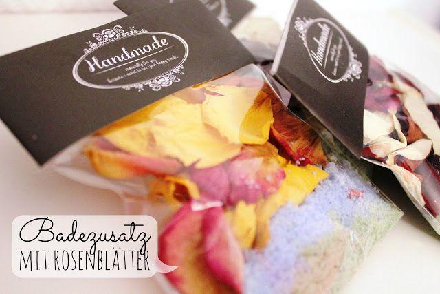 Badezusätze mit Rosenblätter http://ziermanufaktur.blogspot.de/