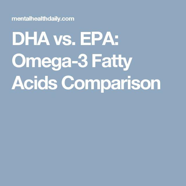 DHA vs. EPA: Omega-3 Fatty Acids Comparison