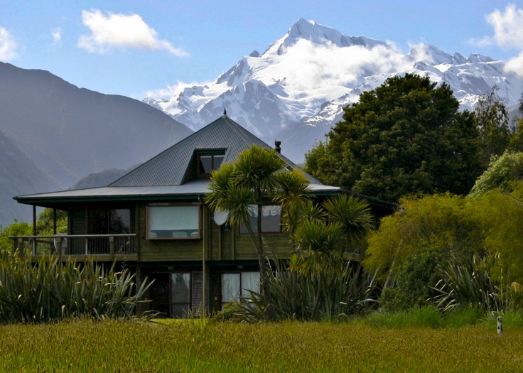 Premium Lifestyle Property with Majestic Alps and Lake Views in New Zealand. Landscaped Gardens and small 'Mirror Lakes', Airstirp, 3 aircraft Hangar. Wildlife (50+ wild Mountain Antelope Chamois), Bordering 2km of Westland National Park. For Sale Now.
