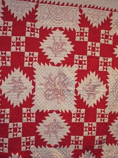 Country Christmas Barn Embroidery Design