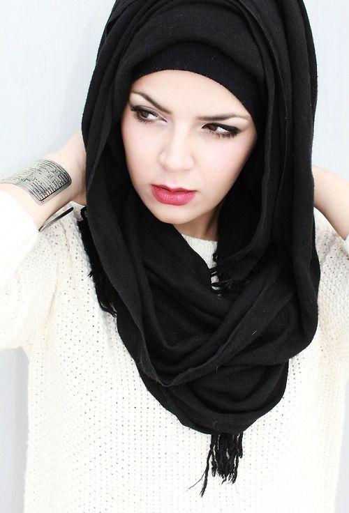 Black Stylish hijabs