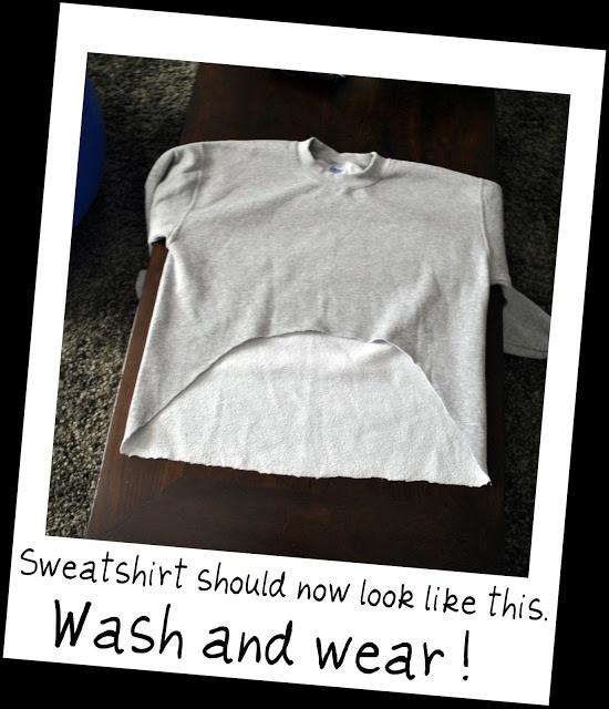 DIY asymmetrical sweatshirt tutorial
