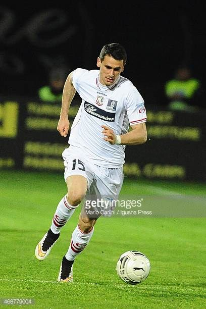 Kevin Lasagna of Carpi FC in action during the Serie B match between Carpi FC and Bologna FCat Stadio Sandro Cabassi on April 1 2015 in Carpi Italy