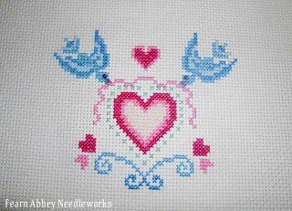 Craftdrawer Crafts: Free Hearts and Birds Cross Stitch Pattern