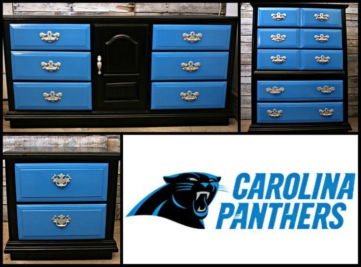 Carolina Panthers Furniture | Blue Furniture | Sports Themes | Football Furniture | NFL | Nook and Cranny | #CarolinaPanthers | #PanthersFans  | #NFL