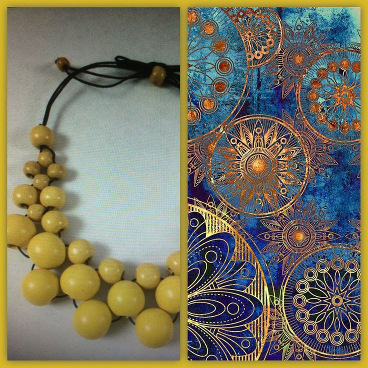 Sunny yellow combo wood bead necklace ~ www.dony-maree.com.au