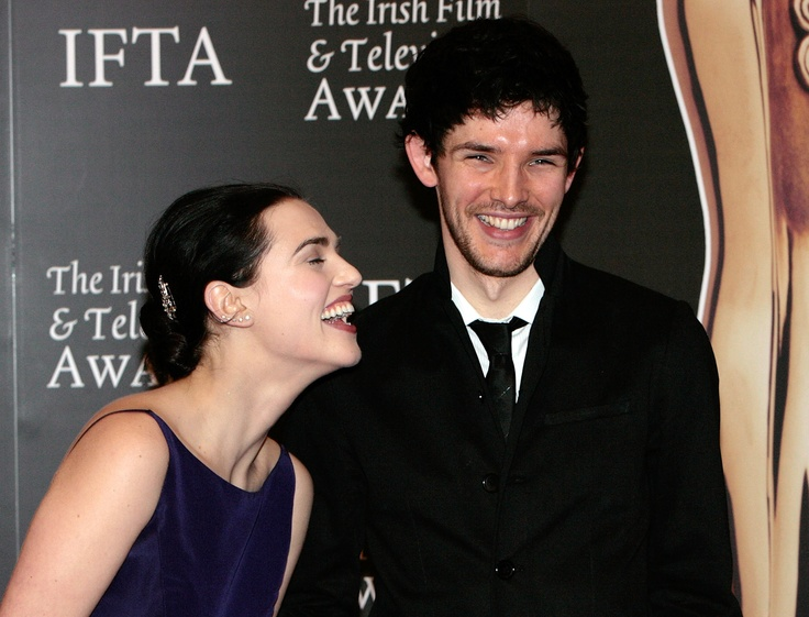 Katie and Colin. Love the smile, Colin.