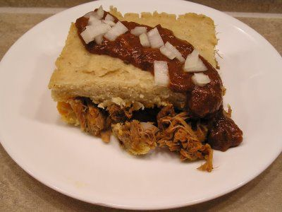 Tamale pie with masa