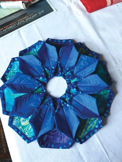 This enchanting project is perfect for enhancing an LED candle or votive, making it ideal for dressing up your decor for a dinner party, holiday or just because. Made even is easier when you use the Hexagon Quilting Template, below. Finished size is ...