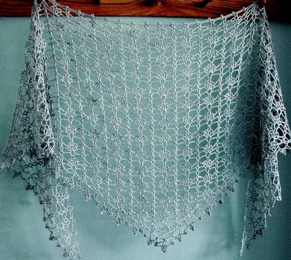 Crochet Lace  Shawl For Summer - Pattern