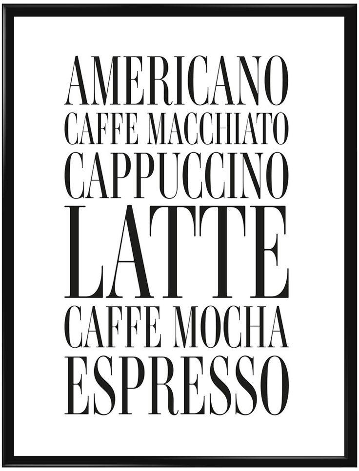 Denna poster borde finnas på väggen i varje kaffeälskares hus. Subtil tavla med…