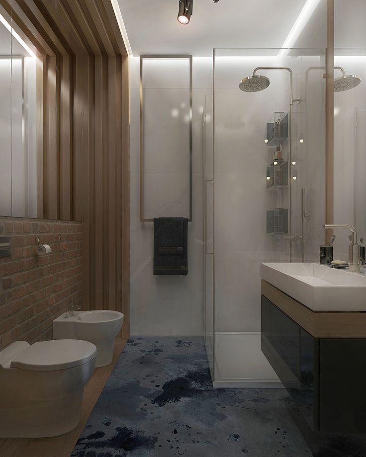 Современный Лофт - Ванная комната 3D – Комфорт & Стиль | PINWIN - конкурсы…