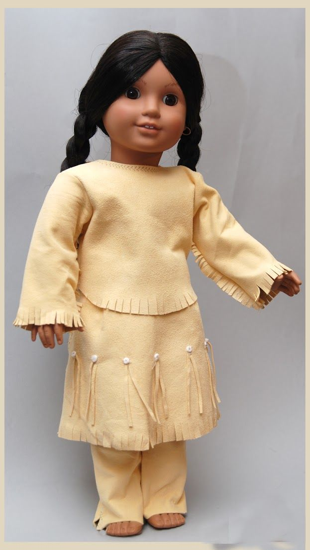 American Girl doll Josefina as Singing Bird in Native American Indian outfit leather An Original  by Dollhouse Designs   http://www.etsy.com/shop/DollhouseDesigns