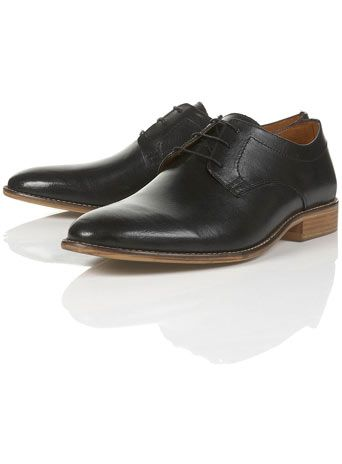 """Morris Gibson"" Black smart shoes"