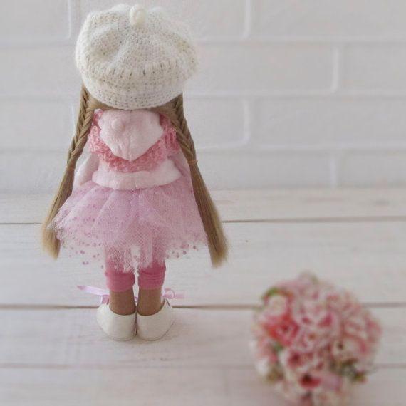 Lerika Doll Textile Doll Fabric Doll Interior Doll Rag