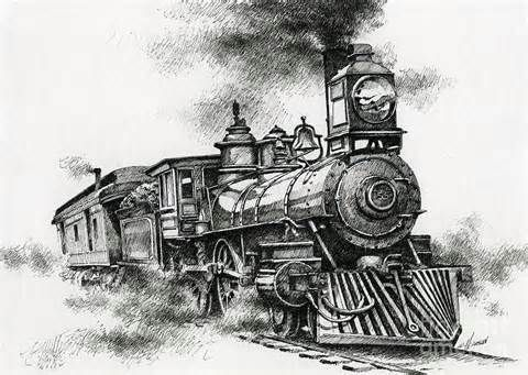 22 Best Images About Old Steam Train Drawings On Pinterest | Great Western Fine Art And Pencil ...