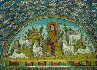 Apologética Católica: Arte católica antiga: a grandeza bizantina. Os mosaicos, do azul mais profundo, recamado de ouro e prata.