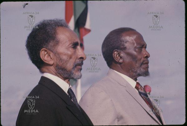 Mzee Jomo Kenyatta with Emperor Haile Selassie.