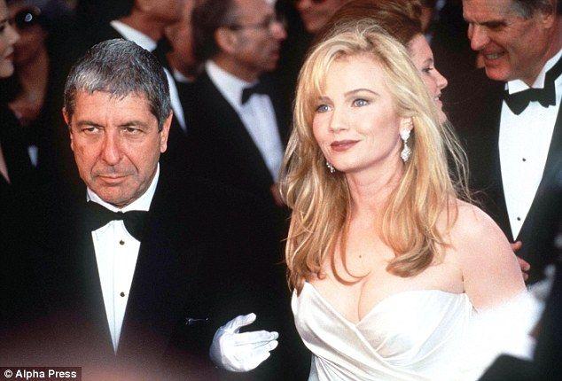 Leonard Cohen and Rebecca de Mornay pictured in 1991