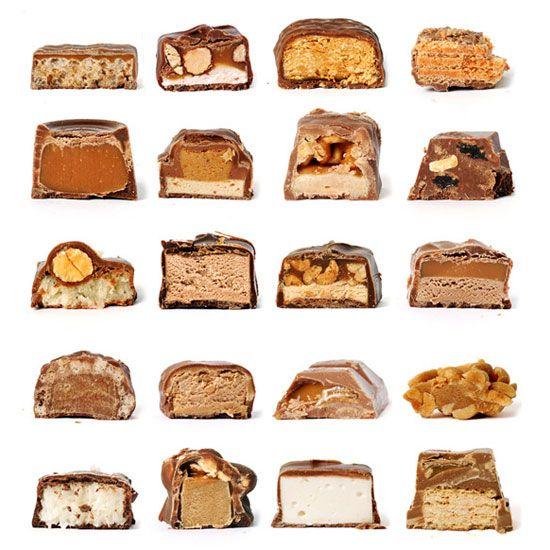 Rachel Been | Chocolate Bar Cross Section  http://www.rachelbeen.com/