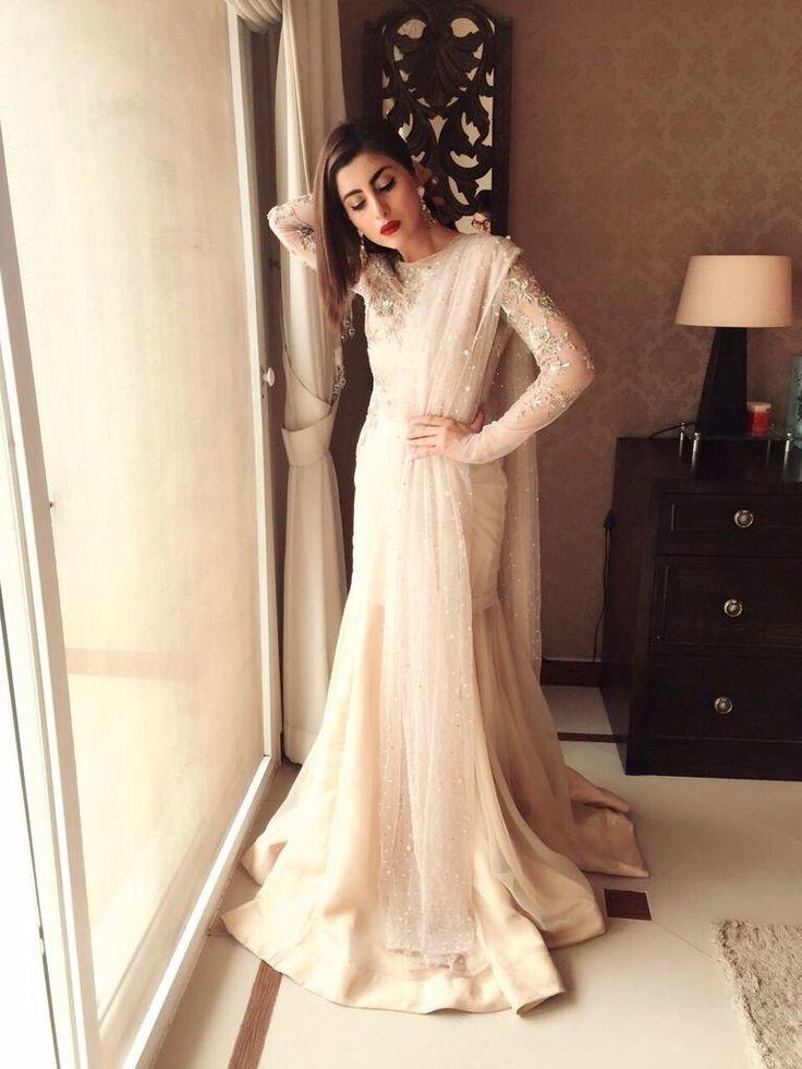 Pakistani actress Sohai Ali Abro wearing Zara Shahjahan for her movie, Wrong No's promotion.