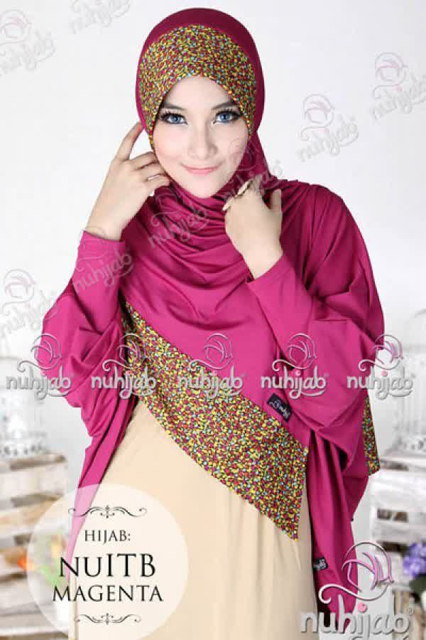 Nuhijab Nu Itb - Magenta Rp. 95.000 Bahan: High Quality Spandex Jersey Polca Order sms/wa 082328384495