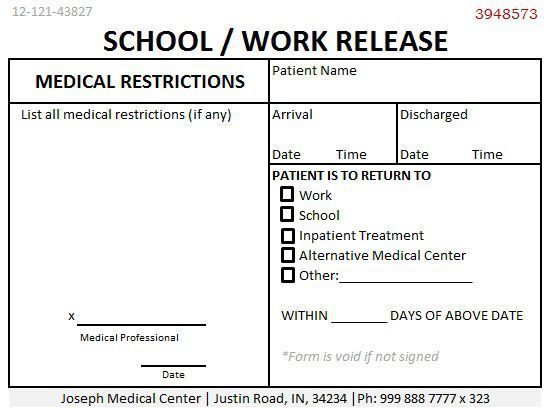 Best 25+ Doctors note ideas on Pinterest Doctors note template - return to work medical form