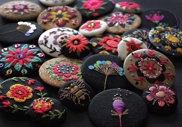Embroidered brooches — MinaSmoke