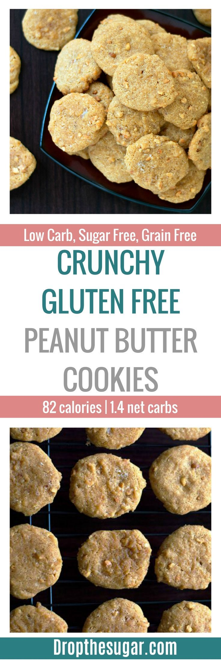Gluten Free Peanut Butter Cookies | a low carb peanut butter cookie ...