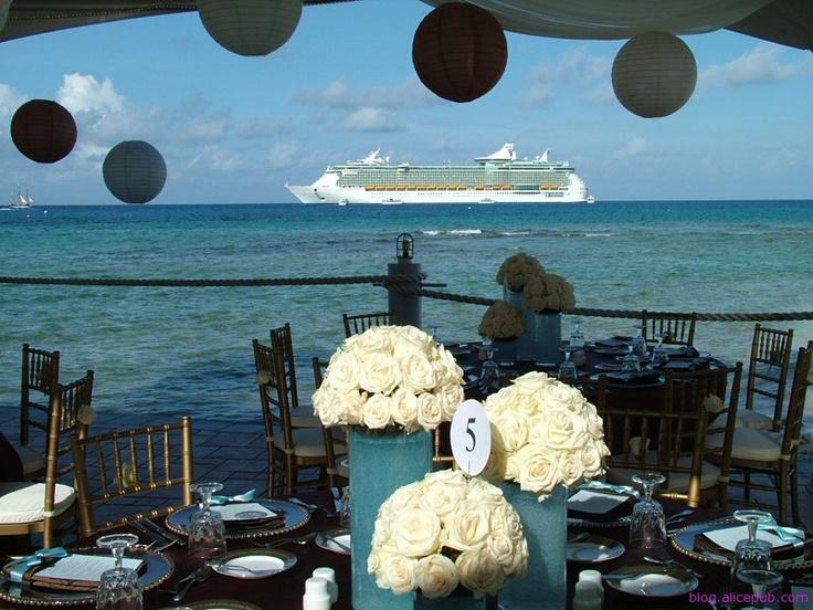 Beautiful!! Cruise wedding Beautiful wedding reception