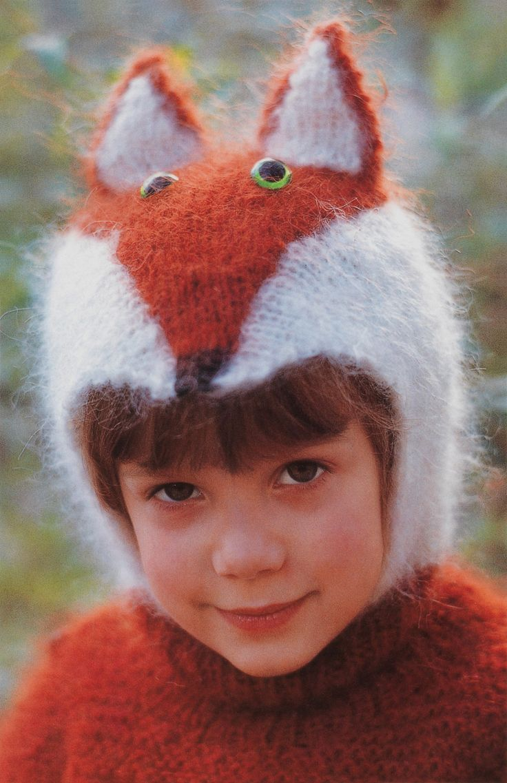 boys kids mohair sweater and hat, photo from 100 idées knitting pattern, fuzzy fluffy childs childrens
