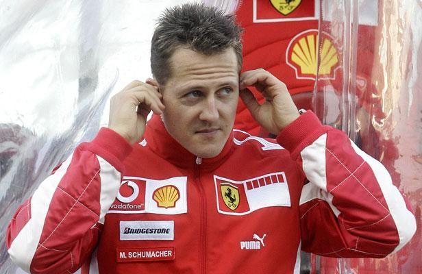 Le pilote allemand de Ferrari Michael Schumacher en février 2006 à Valence (Espagne).