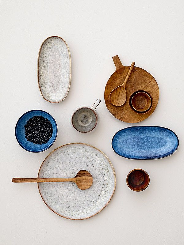 """In the Mood for Blue"" - by http://www.leuchtend-grau.de/  Sandrine tableware - design by Bloomingville <3"