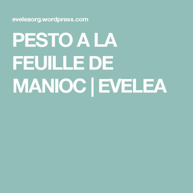 PESTO A LA FEUILLE DE MANIOC | EVELEA