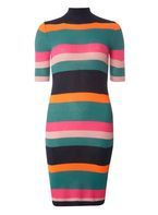 Womens **Noisy May Multi Coloured Knitted Striped Dress- Fl Multi