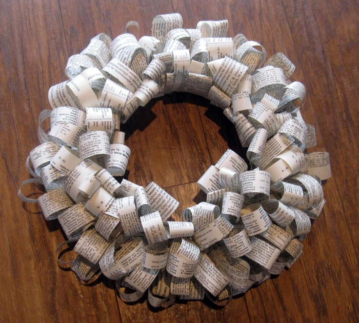 Another great book wreath