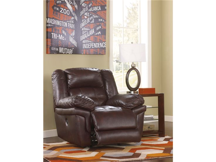Signature Design Living Room Power Rocker Recliner 2590298   Smith Village  Home Furnishings   Jacobus (
