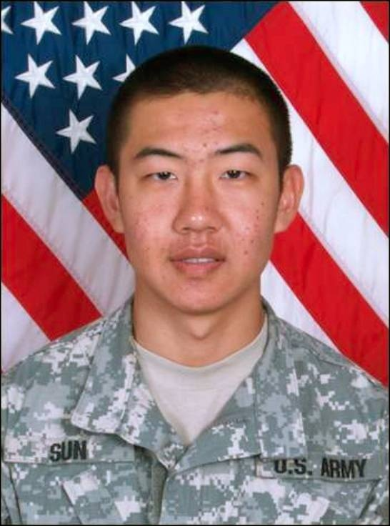 Army Pfc. Ming Sun  Died January 9, 2007 Serving During Operation Iraqi Freedom  20, of Cathedral City, Calif.; assigned to the 1st Battalion, 9th Infantry Regiment, 2nd Brigade Combat Team, 2nd Infantry Division, Fort Carson, Colo.; died Jan. 9 in Ramadi, Iraq, of wounds suffered when his unit came in contact with enemy forces using small-arms fire during combat patrol operations.