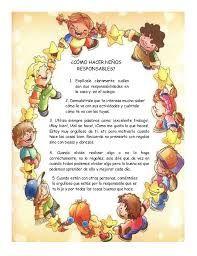 Resultado de imagen para responsabilidad para niños