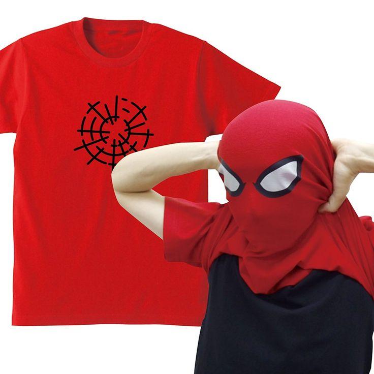 Amazon   面白 変身 かぶり Tシャツ【赤】【蜘蛛男】雑貨 ハロウィン 仮装 通販