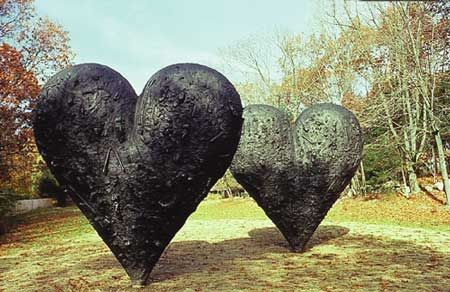 Jim Dine - Hearts Installation-Cincinnati Ohio. Love this- redundant?