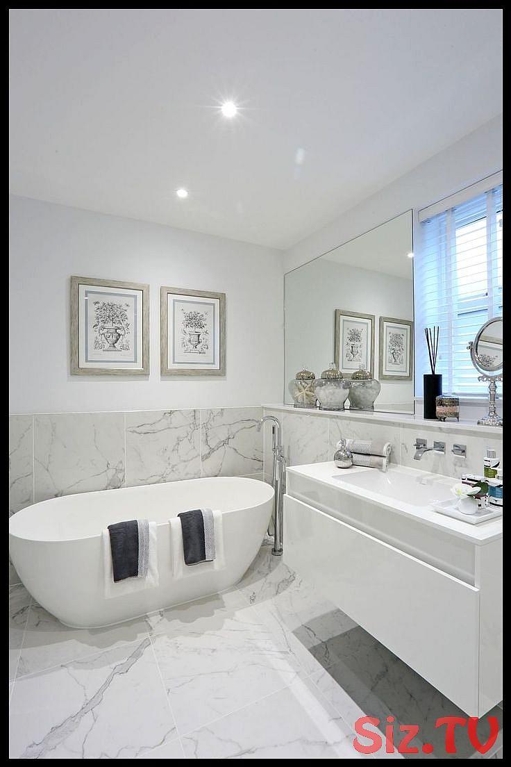 17 reizende zeitgenössische Badezimmer-Entwürfe  Modernes